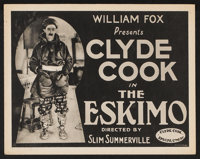 "The Eskimo Lot (Fox, 1922). Title Lobby Card (1) and Lobby Cards (3) (11"" X 14""). Comedy. ... (Total: 4 Items)"