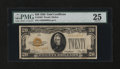 Small Size:Gold Certificates, Fr. 2402 $20 1928 Gold Certificate. PMG Very Fine 25.. ...