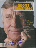 Autographs:Others, 1994 Mickey Mantle Signed Sports Illustrated Magazine....