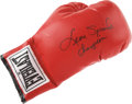 """Boxing Collectibles:Autographs, Leon Spinks Signed Boxing Glove with """"Champion"""" Inscription...."""