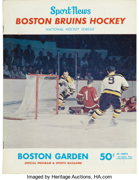 the latest c2e56 c6fbf 1966 Bobby Orr First NHL Game Program.... Hockey ...