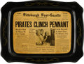 Baseball Collectibles:Others, 1960 Pittsburgh Pirates Tin Tray. ...