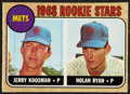Autographs:Sports Cards, 1968 O-Pee-Chee Nolan Ryan Rookie #177, Vintage Signed....