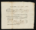 Colonial Notes:Connecticut, Connecticut 1783 Pay Table Office Extremely Fine-About New....