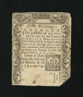 Colonial Notes:Connecticut, Connecticut March 1, 1780 5s Uncancelled Fine, restored....