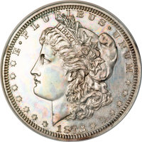1878 $1 Morgan Dollar, Judd-1550A, Pollock-1723, Low R.6--Improperly Cleaned, Lacquered--NCS. Proof Details....(PCGS# 61...