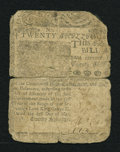 Colonial Notes:Delaware, Delaware May 1, 1758 20s Good....
