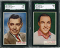 "Non-Sport Cards:Singles (Post-1950), 1953 Topps ""Who-Z-At-Star SGC-Graded Pair (2)...."