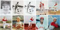 Autographs:Photos, Cincinnati Reds and Cleveland Indians Signed Photographs Lot of 32....