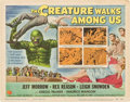 "Movie Posters:Horror, The Creature Walks Among Us (Universal International, 1956). TitleLobby Card and Lobby Cards (3) (11"" X 14"").. ... (Total: 4 Items)"