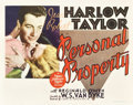 """Movie Posters:Romance, Personal Property (MGM, 1937). Title Lobby Card (11"""" X 14"""").. ..."""