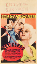 "Movie Posters:Drama, Reckless (MGM, 1935). Midget Window Card (8"" X 14"").. ..."