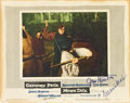 """Movie Posters:Adventure, Moby Dick (Warner Brothers, 1956). Autographed Lobby Card (11"""" X14"""").. ..."""