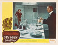 "Movie Posters:Comedy, My Man Godfrey (Realart, R-1940s). Autographed Lobby Card (11"" X14"").. ..."