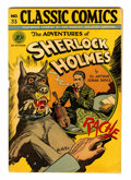 Golden Age (1938-1955):Classics Illustrated, Classic Comics #33 Adventures of Sherlock Holmes - First Edition(Gilberton, 1947) Condition: GD/VG....