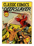 Golden Age (1938-1955):Classics Illustrated, Classic Comics #17 The Deerslayer - First Edition (Gilberton, 1944)Condition: VG+....