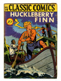 Golden Age (1938-1955):Classics Illustrated, Classic Comics #19 Huckleberry Finn - First Edition (Gilberton,1944) Condition: VG....