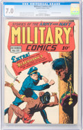 Golden Age (1938-1955):War, Military Comics #23 (Quality, 1943) CGC FN/VF 7.0 Off-whitepages....