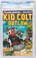 Golden Age (1938-1955):Western, Kid Colt Outlaw #24 Mile High pedigree (Atlas, 1953) CGC NM 9.4White pages....