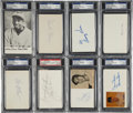 Autographs:Index Cards, Baseball Signed Index Card Group Lot (30) PSA/DNA Certified Authentic....