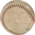 Autographs:Baseballs, 1927 Al Simmons Single Signed Baseball....