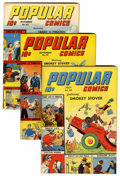 Golden Age (1938-1955):Miscellaneous, Popular Comics Group (Dell, 1943-44).... (Total: 5 Comic Books)