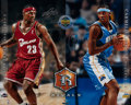 Autographs:Photos, LeBron James and Carmelo Anthony UDA Dual-Signed OversizedPhotograph....