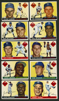Baseball Cards:Lots, 1955 Topps Brooklyn Dodgers Team Group of (10). ...