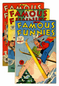 Golden Age (1938-1955):Miscellaneous, Famous Funnies #127-131 Rockford pedigree Group (Eastern Color, 1945).... (Total: 5 Comic Books)