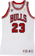 Basketball Collectibles:Uniforms, 1996-97 Michael Jordan Game Issued Jersey. ...