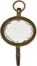 Timepieces:Watch Chains & Fobs, Rock Crystal Winding Key, circa 1830. ...
