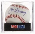 Autographs:Baseballs, Jim Bunning Single Signed Baseball PSA Mint 9. ...