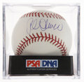 Autographs:Baseballs, Al Oliver Single Signed Baseball PSA Mint 9. ...