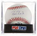 Autographs:Baseballs, Barry Bonds Single Signed Baseball PSA Mint 9. ...