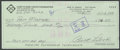 Autographs:Checks, Curt Flood Signed Check. ...