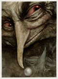 Mainstream Illustration, BRIAN FROUD (English, b. 1947). Goblin. Mixed-media onpaper. 10.75 x 8 in.. Signed lower right. ...