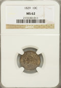 Bust Dimes: , 1829 10C Small 10C MS62 NGC. NGC Census: (37/99). PCGS Population(21/86). Mintage: 770,000. Numismedia Wsl. Price for NGC/...