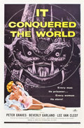"Movie Posters:Science Fiction, It Conquered the World (American International, 1956). One Sheet(27"" X 41"").. ..."
