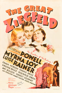 "The Great Ziegfeld (MGM, 1936). Autographed One Sheet (27"" X 41"") Style D"