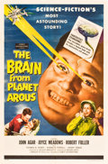 """Movie Posters:Science Fiction, The Brain from Planet Arous (Howco, 1957). One Sheet (27"""" X 41"""")....."""