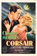 """Movie Posters:Adventure, Corsair (United Artists, 1931). One Sheet (27"""" X 41"""").. ..."""