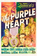 "Movie Posters:War, The Purple Heart (20th Century Fox, 1944). One Sheet (27"" X 41"")....."