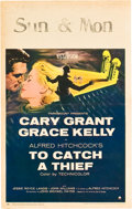 "Movie Posters:Hitchcock, To Catch a Thief (Paramount, 1955). Window Card (14"" X 22"").. ..."