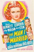 "Movie Posters:War, The Man I Married (20th Century Fox, 1940). One Sheet (27"" X 41"")....."