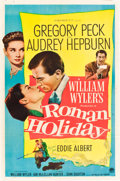 "Movie Posters:Romance, Roman Holiday (Paramount, 1953). Autographed One Sheet (27"" X 41"").. ..."