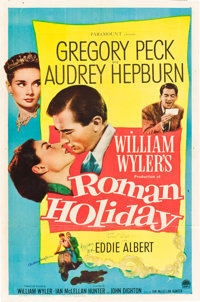 """Roman Holiday (Paramount, 1953). Autographed One Sheet (27"""" X 41"""")"""