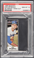 Baseball Cards:Singles (1960-1969), 1968 Bazooka Don Drysdale PSA Gem Mint 10....