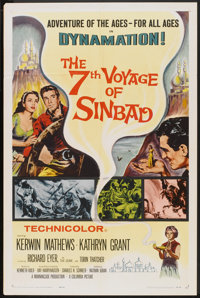 "The 7th Voyage of Sinbad (Columbia, 1958). One Sheet (27"" X 41""). Fantasy"