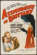 """Movie Posters:War, Assignment in Brittany (MGM, 1943). One Sheet (27"""" X 41""""). War....."""