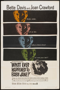 """What Ever Happened to Baby Jane? (Warner Brothers, 1962). One Sheet (27"""" X 41""""). Thriller"""